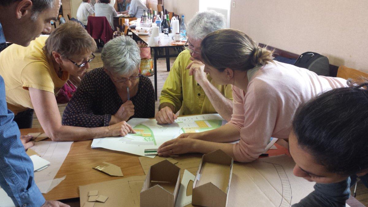 Atelier Habitat participatif - Guérande - reflexion sur volumétrie